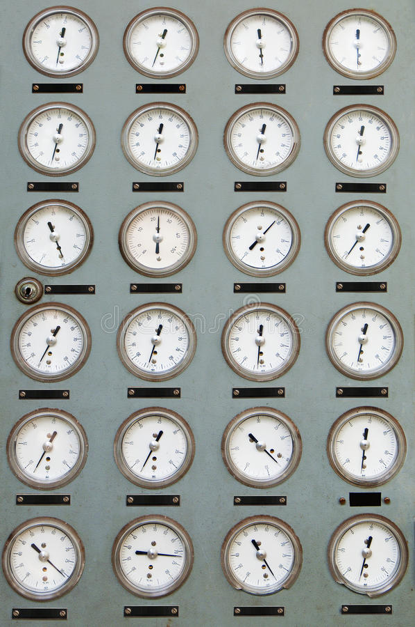 Measuring instruments panel royalty free stock photos
