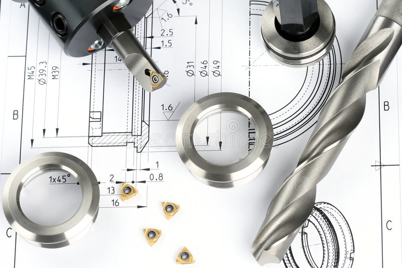 Download Measuring metal components stock image. Image of insert - 4068557