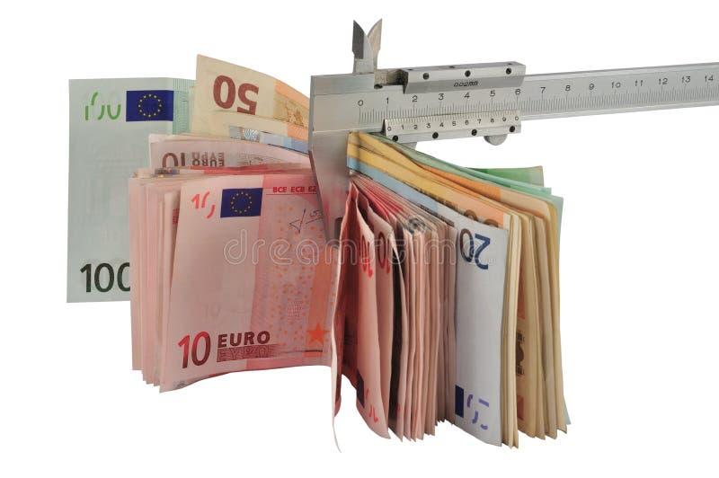 Measuring money royalty free stock photo