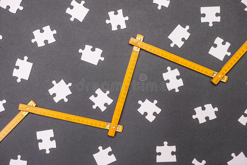 Measuring puzzle royalty free stock photos