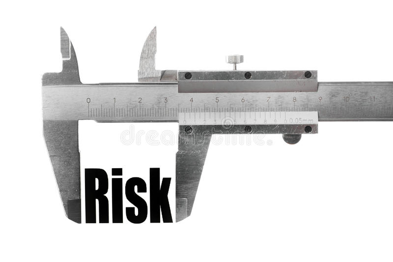 Measuring risk royalty free stock photo