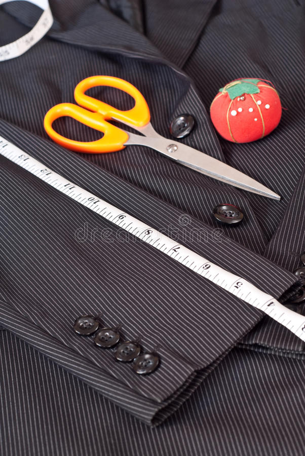 Measuring the Sleeve royalty free stock photography