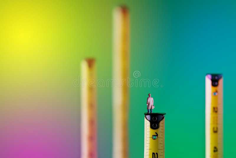 Measuring Success stock photography