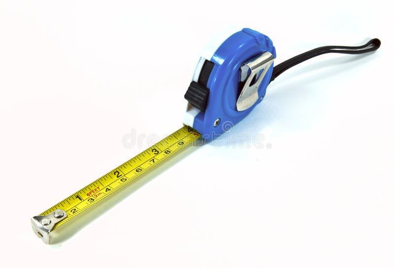 Measuring tape. Shot on white background stock photos