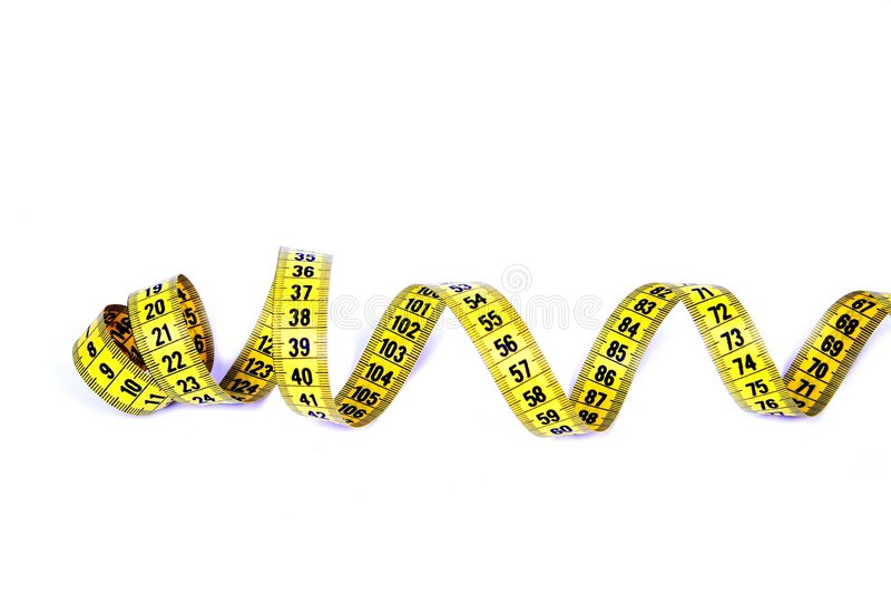 Measuring tape. Measuring tape on white background stock photography