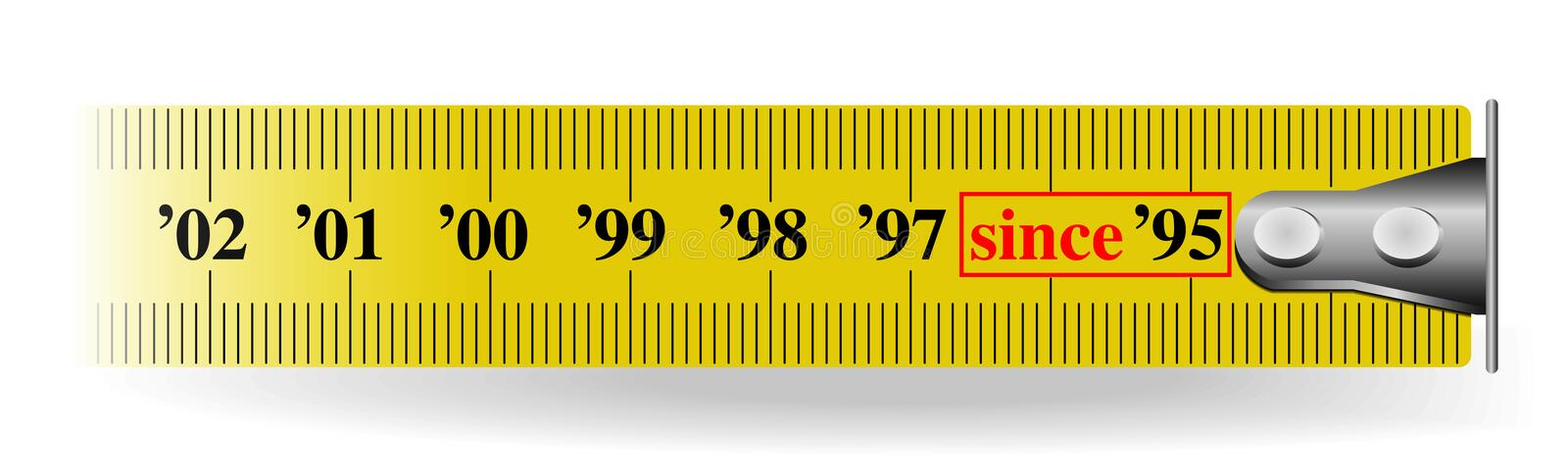 Download Measuring tape stock vector. Image of measured, corporation - 6961886