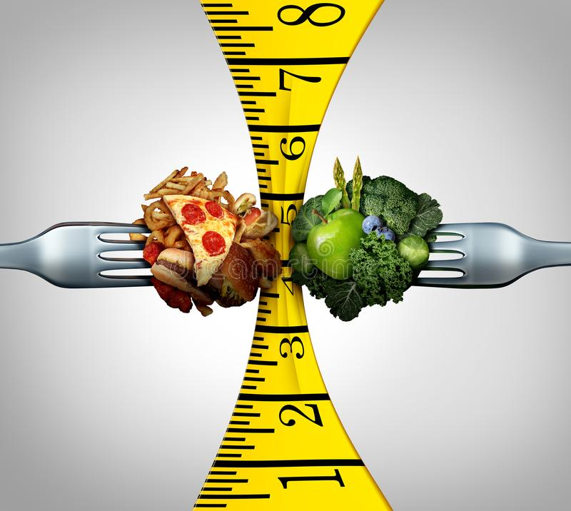 Measuring Tape Food royalty free illustration