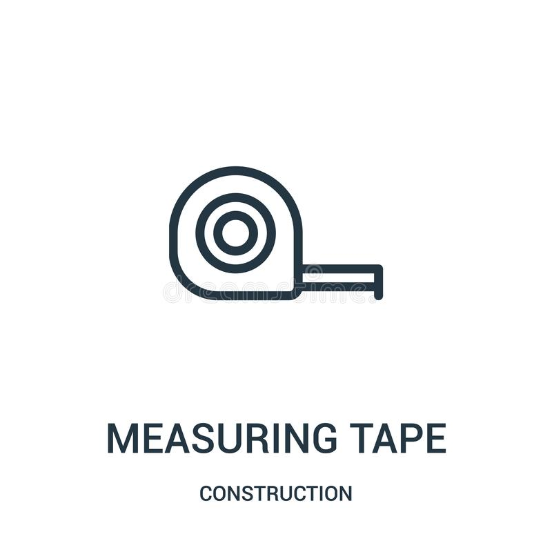 Free Measuring Tape Icon Vector From Construction Collection. Thin Line Measuring Tape Outline Icon Vector Illustration Stock Photo - 143263330