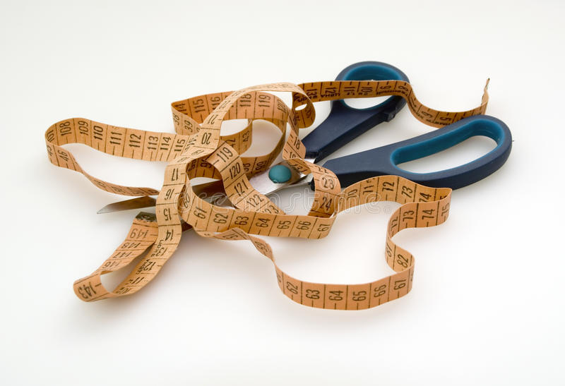 Download Measuring Tape And Scissors Stock Image - Image of measuring, scissors: 29129451