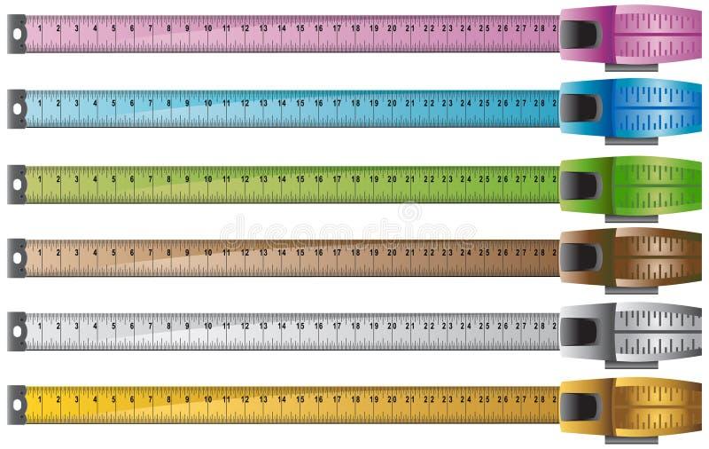 Measuring Tape Set of 6 royalty free illustration