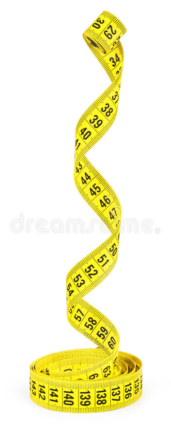 Measuring tape of the tailor stock image