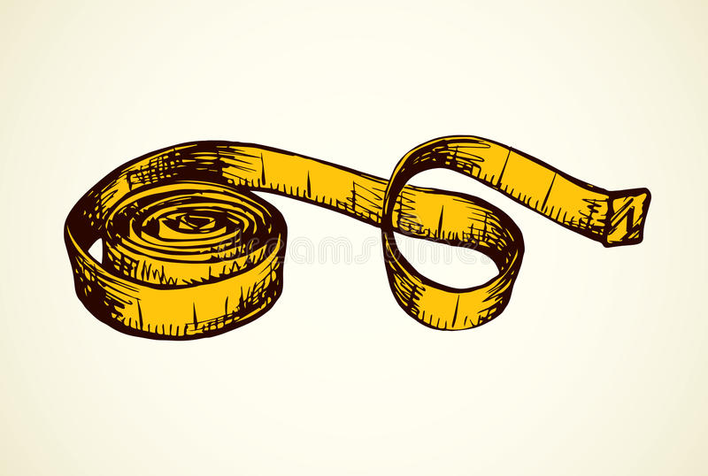 Measuring tape. Vector drawing royalty free illustration