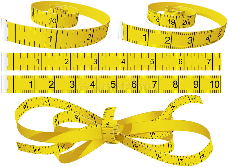 Download Measuring Tapes stock image. Image of measure, inch, curl - 14771343