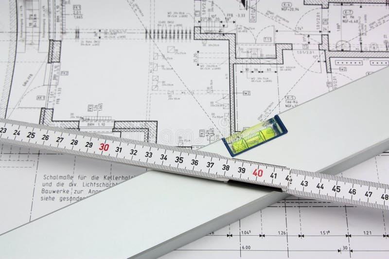 Download Measuring tools stock photo. Image of blueprint, waterlevel - 17628126
