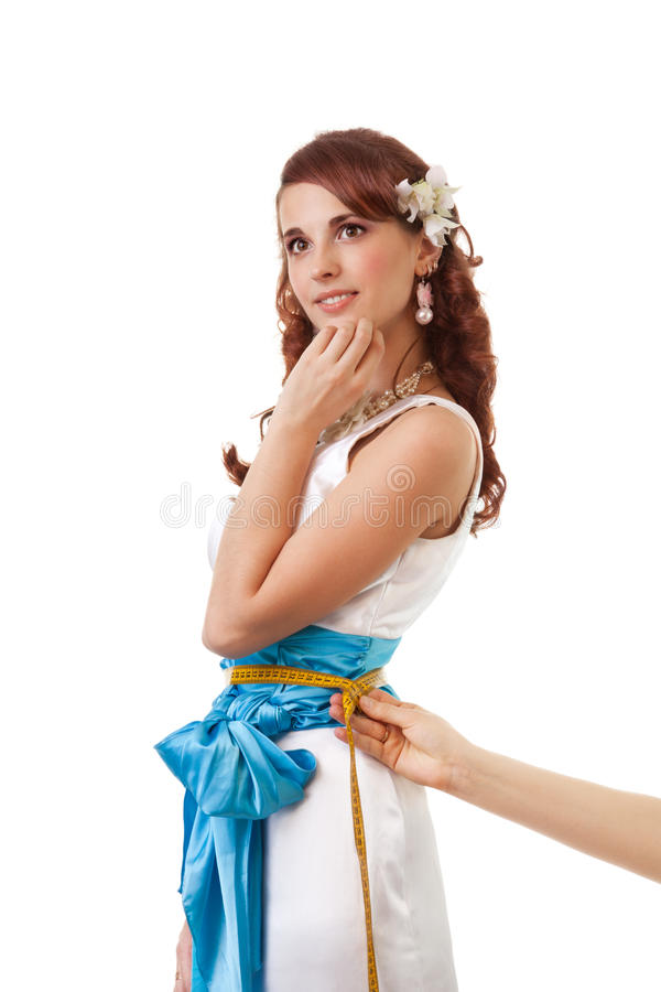 Download Measuring waist stock photo. Image of clothing, bride - 24502884