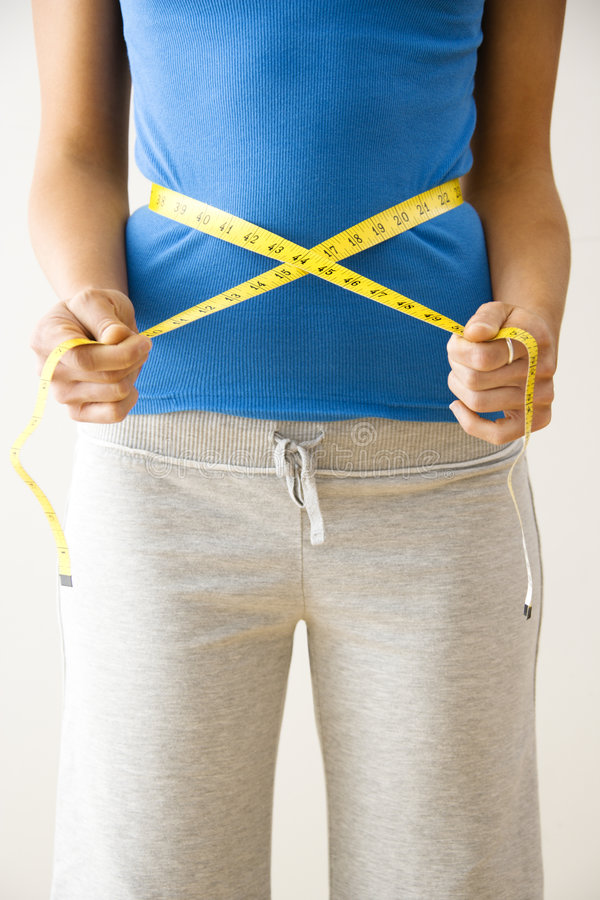 Download Measuring waist stock photo. Image of diet, wellness, weight - 4415780