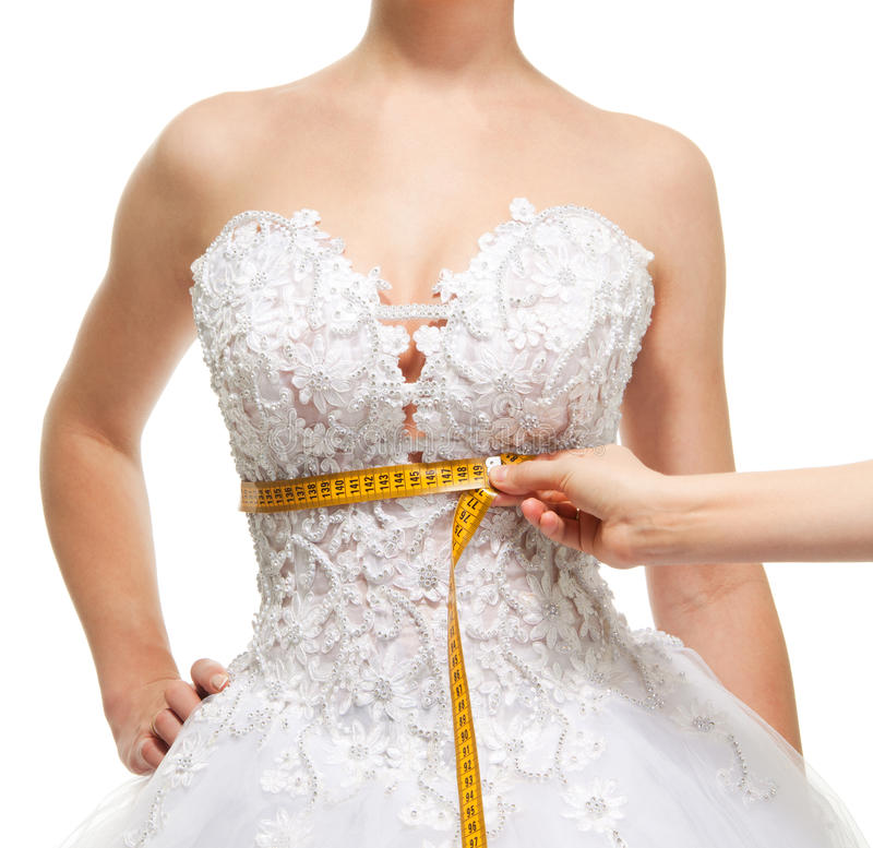 Free Measuring Woman S Waist Under The Breast Royalty Free Stock Photography - 18149987
