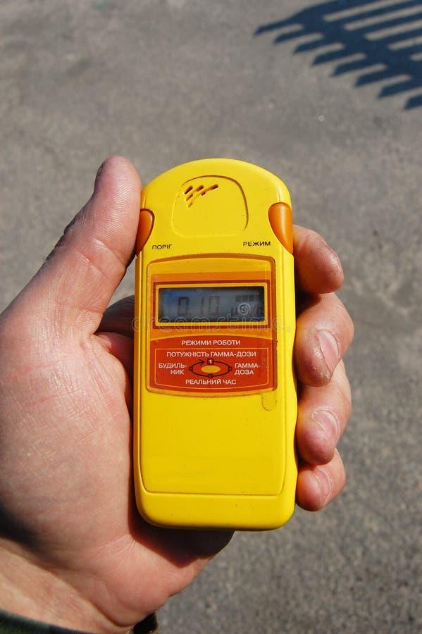 Measurment van de straling. royalty-vrije stock afbeelding