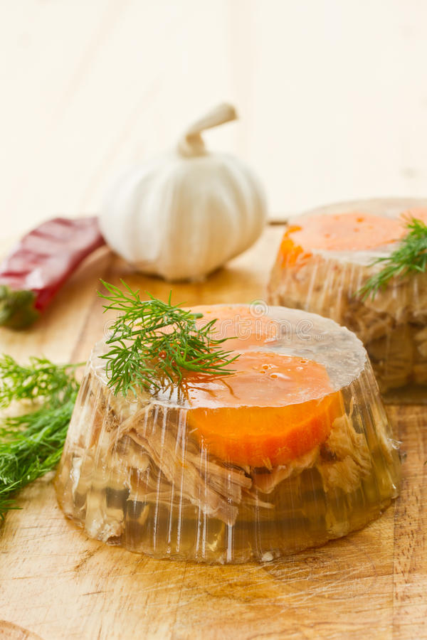 Download Meat aspic stock image. Image of dish, cutter, gelatin - 27777573