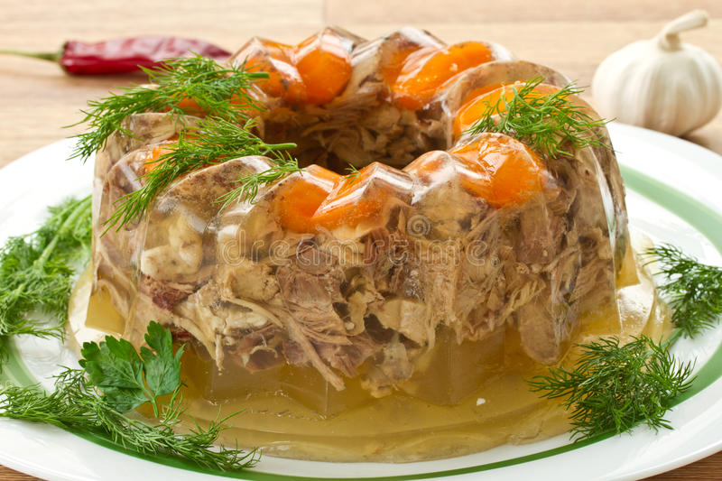 Download Meat aspic stock photo. Image of carrots, cold, gourmet - 27777792