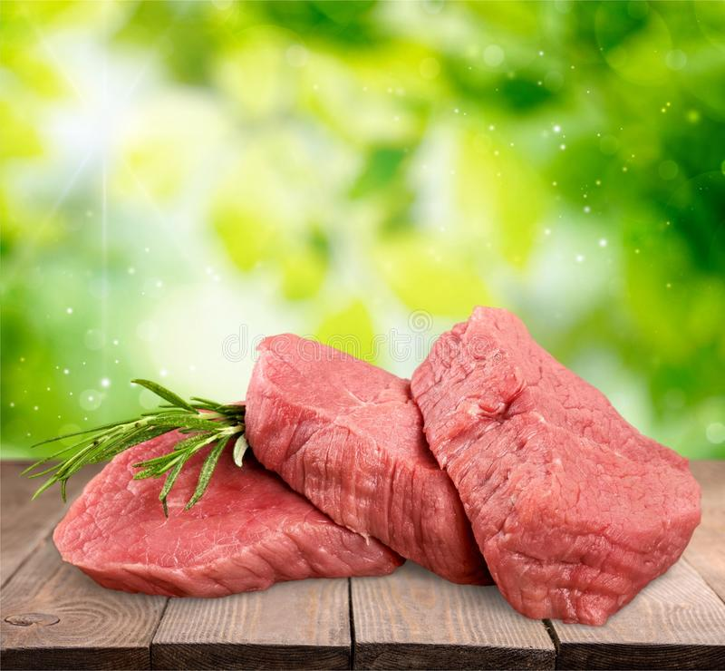 Meat. Beef Steak Raw Freshness Filet Mignon White Background stock images
