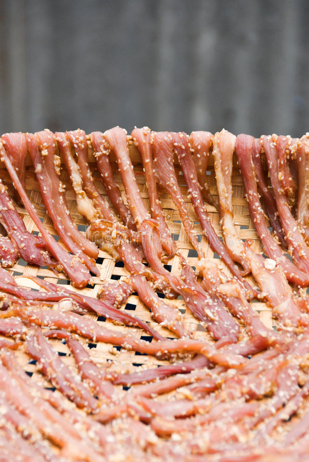 Free Meat Being Dried Up Stock Photo - 4589820