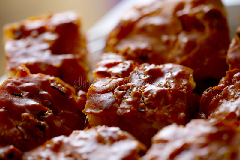 Meat cake close up stock photography