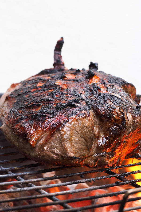 Meat On Charcoal Grill Royalty Free Stock Image