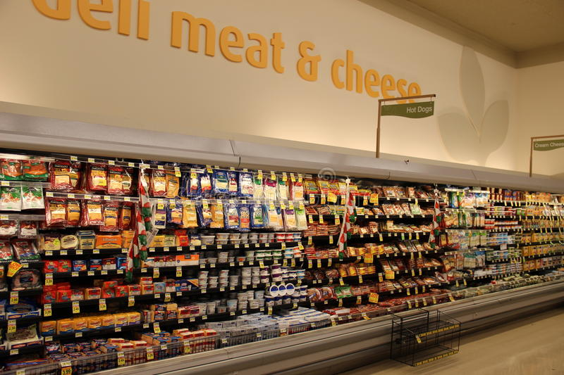 Meat and Cheese Deli royalty free stock image