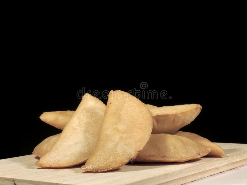 Meat and cheese empanadas stock images