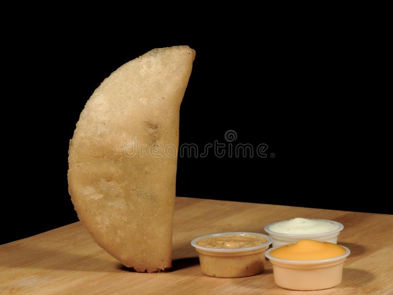 Meat and cheese empanadas royalty free stock photos