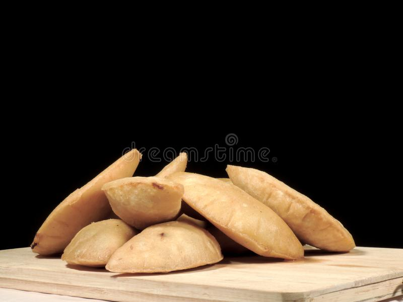 Meat and cheese empanadas royalty free stock image