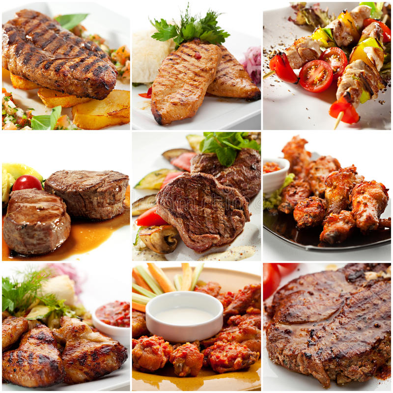 Meat Collage stock photo