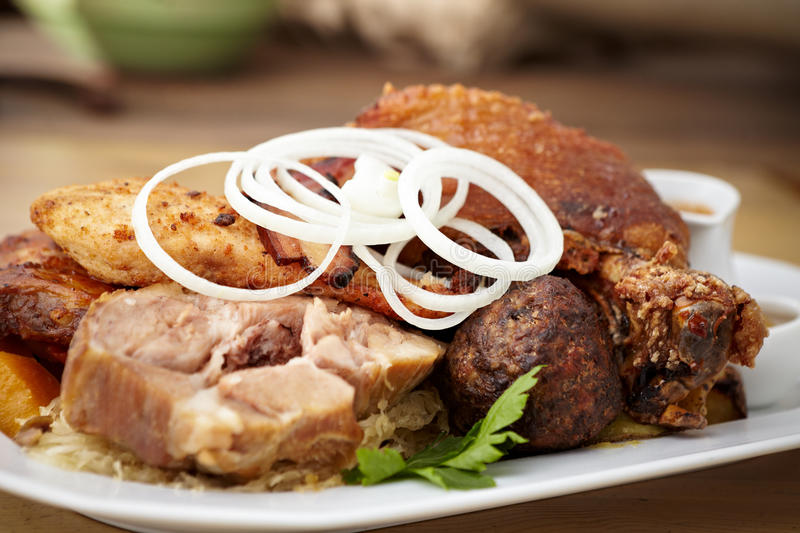 Download Meat feast stock image. Image of meal, food, beef, cabbage - 33550491