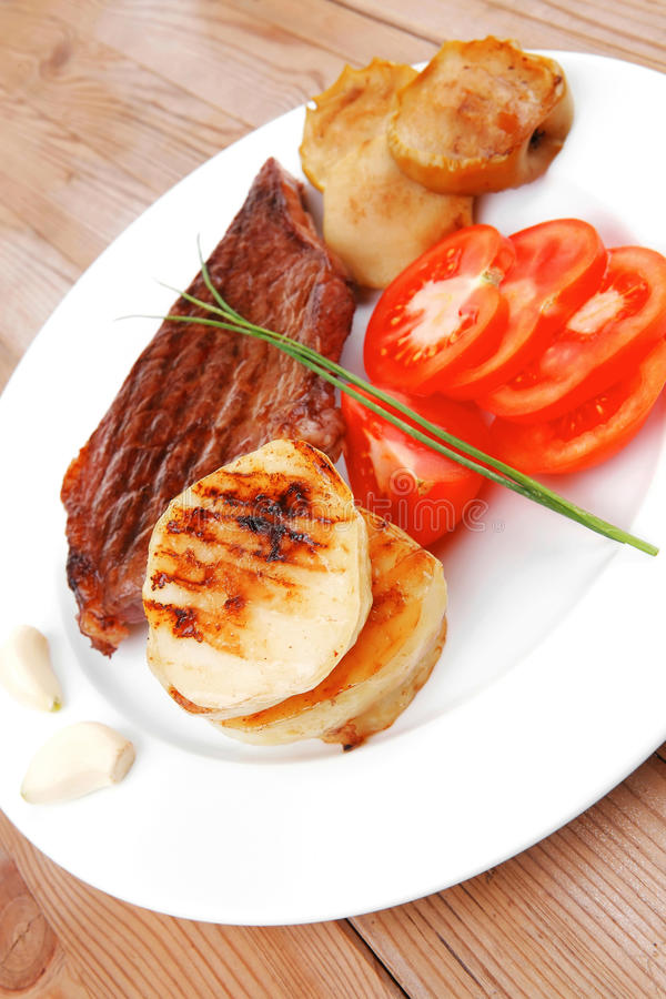 Meat food : roast beef fillet royalty free stock image