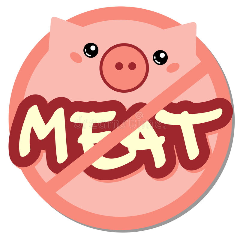 Meat forbidden stock image