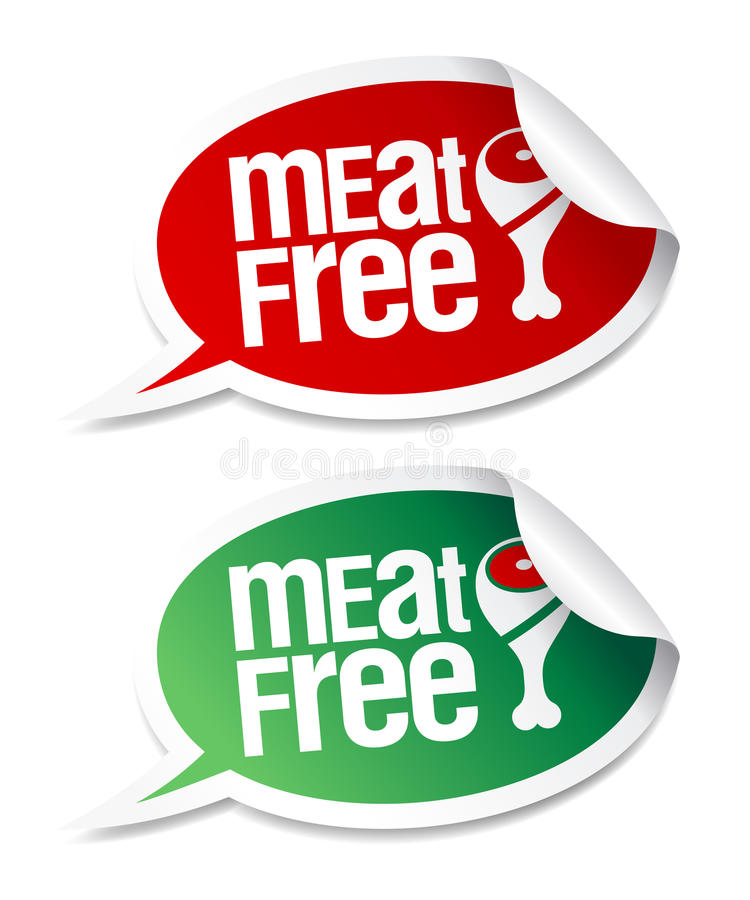 Download Meat free stickers. stock vector. Image of isolated, menu - 16735835
