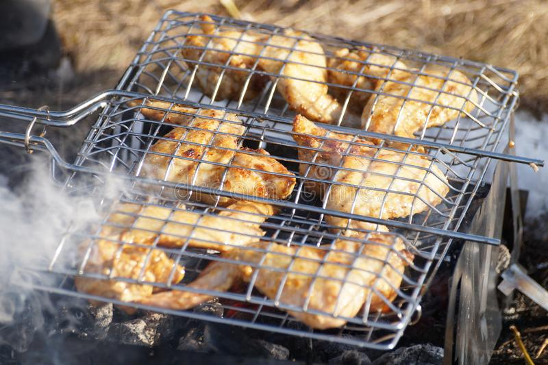 Meat on the grate royalty free stock images