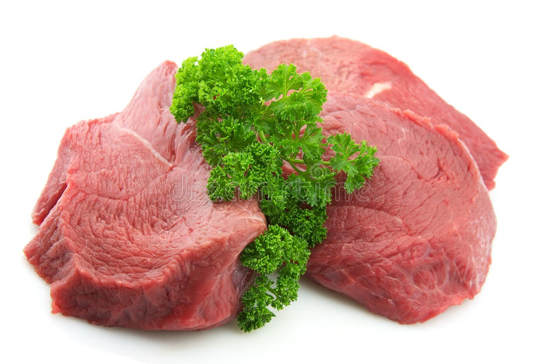 Meat with greens royalty free stock photo