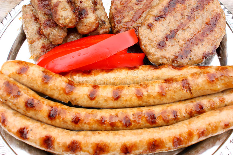 Meat from the grill stock photo