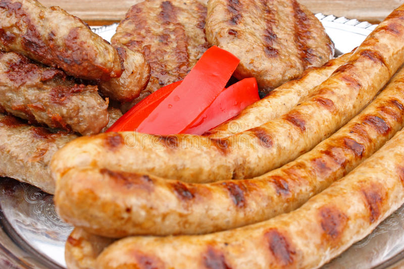 Meat on the grill royalty free stock photo