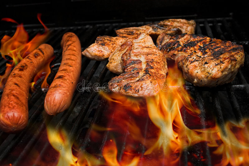 Download Meat on grill stock image. Image of picnic, barbeque, broiled - 5534607