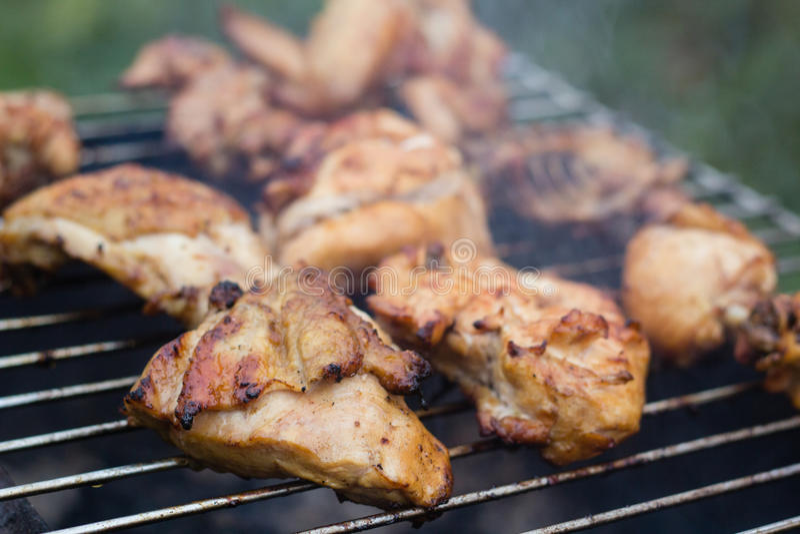Meat grillar på fotografering för bildbyråer