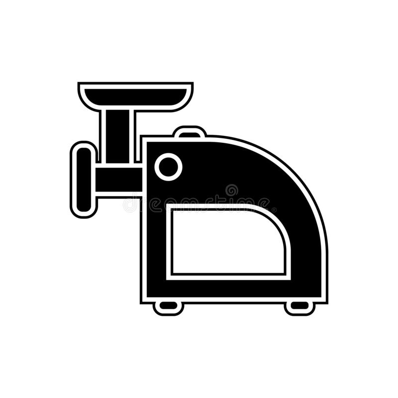meat grinder icon. Element of Appliances for mobile concept and web apps icon. Glyph, flat icon for website design and development stock illustration