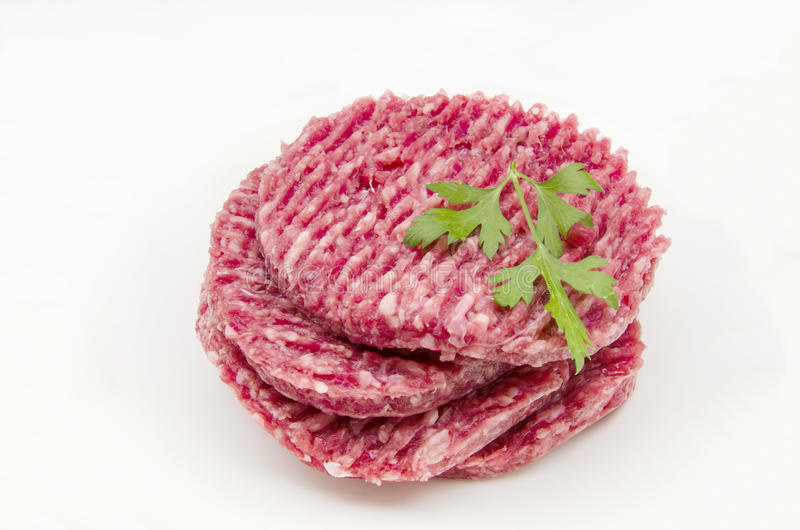 Meat for hamburgers stock photography