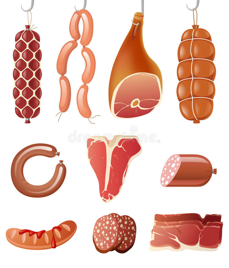 Free Meat Icons Royalty Free Stock Photo - 24836625