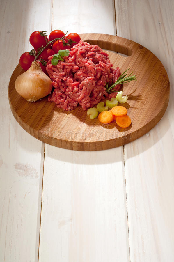 Download Meat loaf with ingredients stock image. Image of chop - 14081061