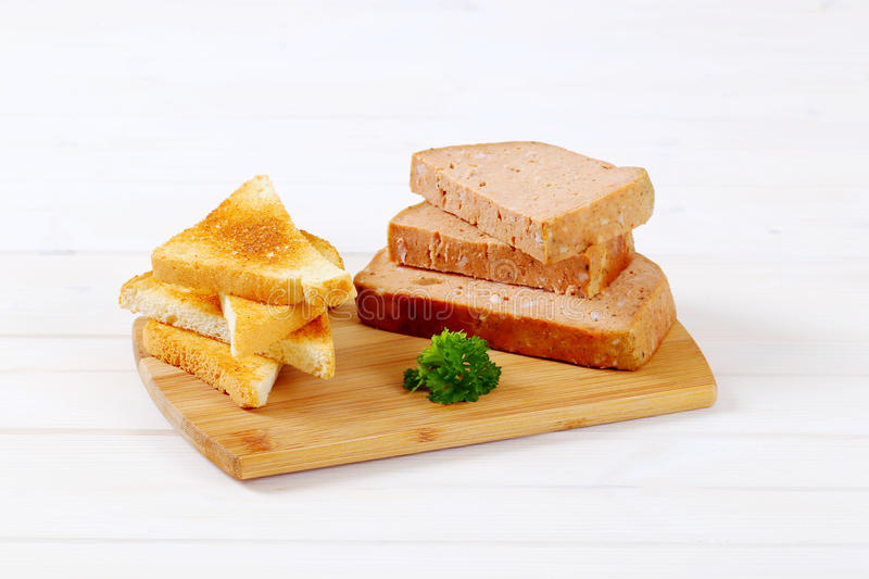 Download Meat loaf with toasts stock photo. Image of background - 83708890