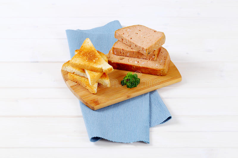 Download Meat loaf with toasts stock image. Image of dinner, crispy - 83708907