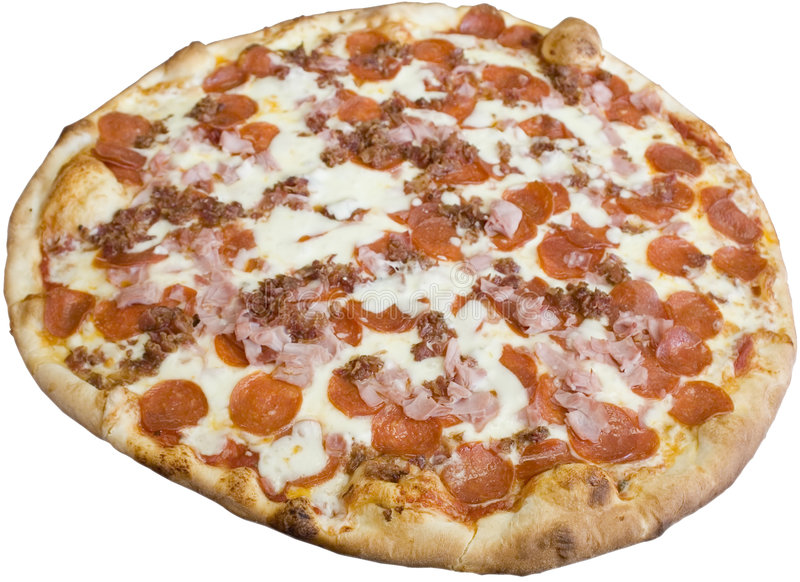 Meat Lovers Pizza royalty free stock photography